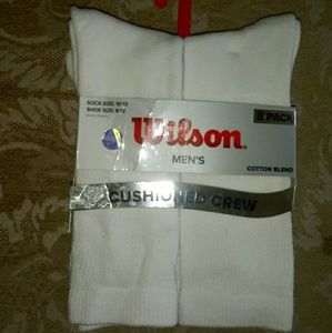 Wilson 8Pk Cushioned Crew CottonBlend Socks